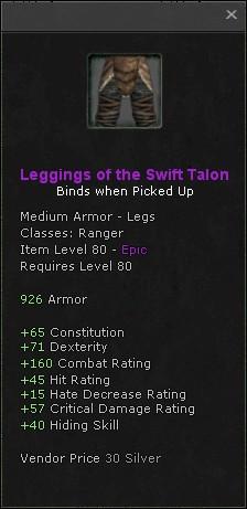 Leggings of the swift talon