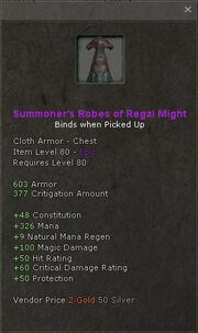 Summoners robes of regal might