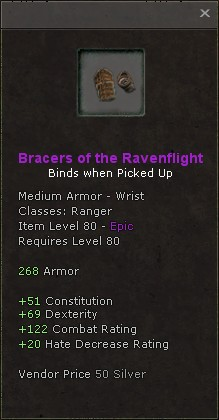 Bracers of the ravenflight