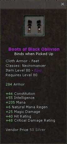 Boots of black oblivion