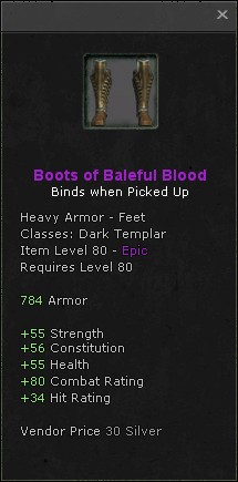 Boots of baleful blood