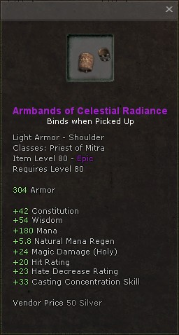 Armbands of celestial radiance