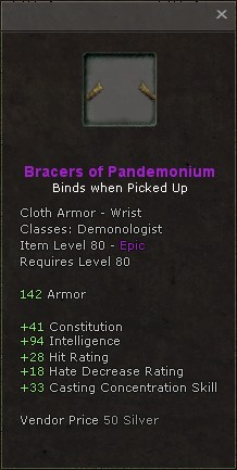 Bracers of pandemonium
