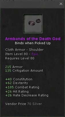Armbands of the death god