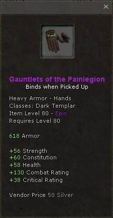 Gauntlets of the painlegion