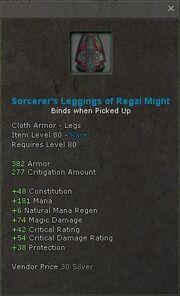 Sorcerers leggings of regal might