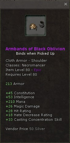 Armbands of black oblivion