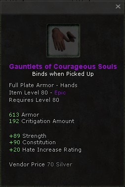 Gauntlets of courageous souls