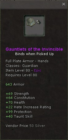 Gauntlets of the invincible