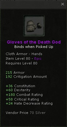 Gloves of the death god