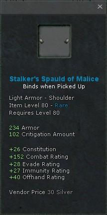 Stalkers spauld of malice