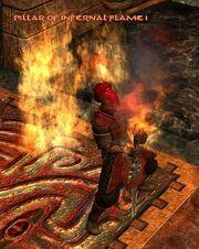 Pillar of infernal flame