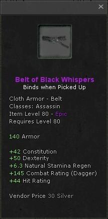 Belt of black whispers