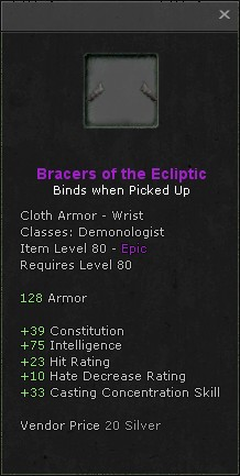 Bracers of the ecliptic