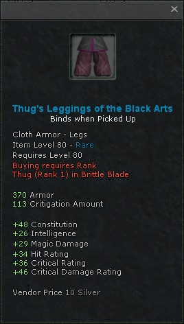 Thugs leggings of the black arts
