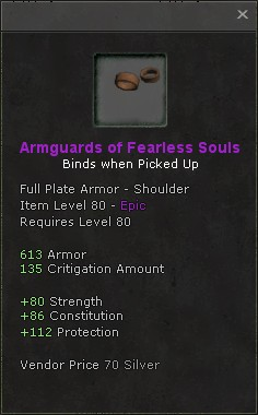 Armguards of fearless souls