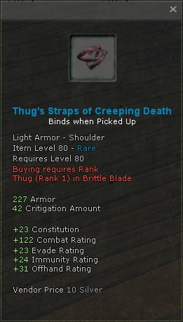 Thugs straps of creeping death