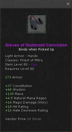 Gloves of illuminant conviction