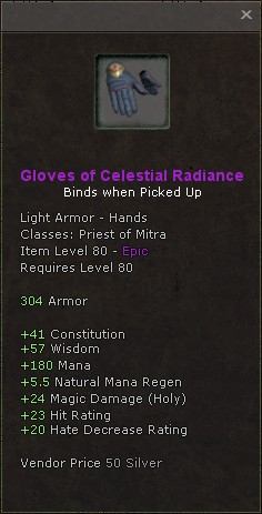 Gloves of celestial radiance