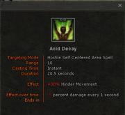 Acid-decay