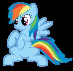 Rainbow dash standing vector by afkrobot-d4wz47x