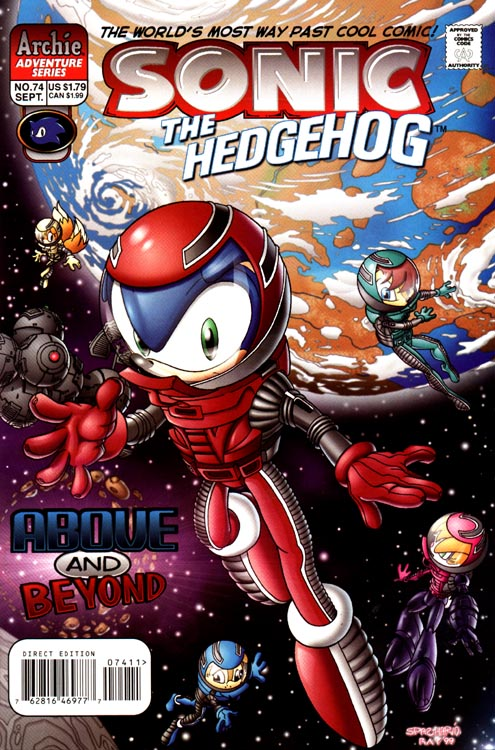 archie sonic the hedgehog issue 74