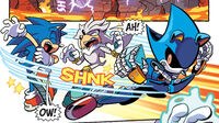 Metal Sonic Attacks Sonic and Silver