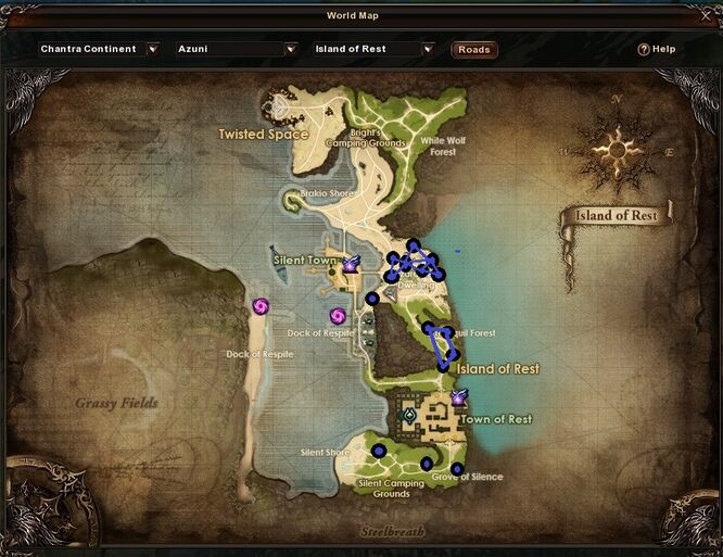 Island of Rest Leftover Ether Locations
