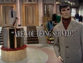 Are You Being Served pilot title card