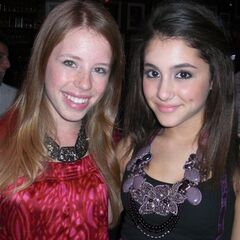 Ariana with Allie Trimm who plays Patrice.