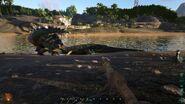 ARK-Sarcosuchus and Stegosaurus Screenshot 001