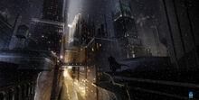 Batmanarkhamorigins environment new gotham diamond district by meinert hansen additions 01