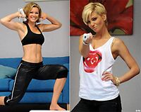Nell McAndrew Wii Fit