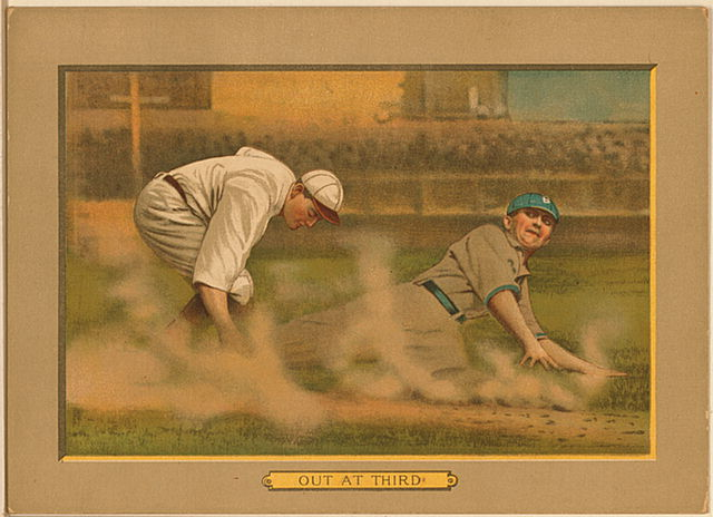 File:1911 out at third baseball card.jpg