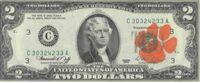 Clemson 2 dollar bill