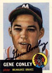 Gene conley autograph