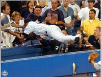 Derek Jeter Dive into Stands