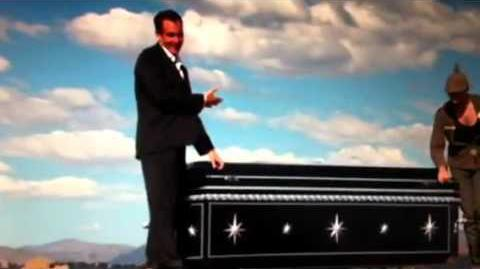 Magic coffin illusion