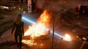 Kara destroying police cars
