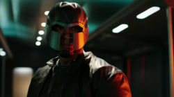 John Diggle in his old Spartan mask