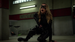 Laurel after being stabbed by Dahrk