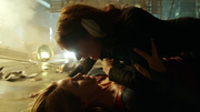 Kara and Astra fighting
