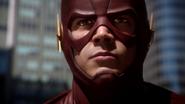 Lightning flickering in Barry's eyes
