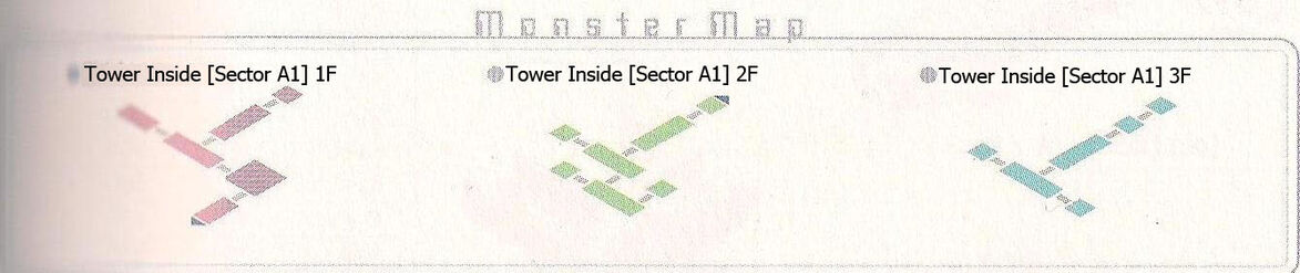 Tower Sector A1 1F~3F Monster Map