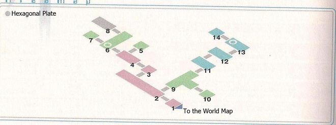 Hexagonal Plate Area Map