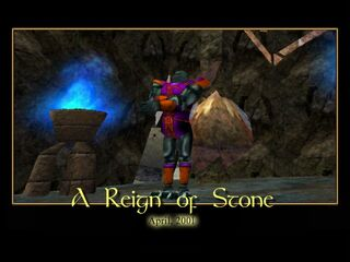 A Reign of Stone Splash Screen
