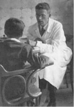 Hans Asperger at his clinic in Vienna