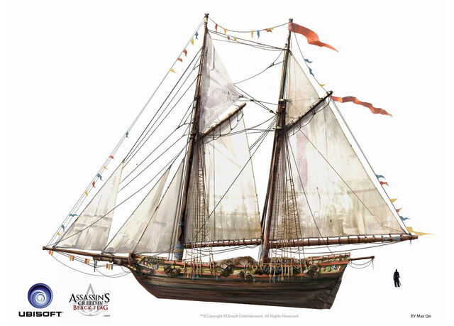 File:Assassin's Creed IV Black Flag -Ship- Merchant Schooner by max qin.jpg
