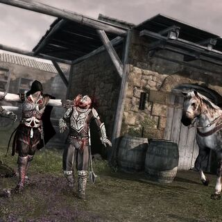 Ezio assassinating two <a href=
