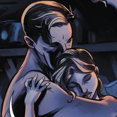 尼古拉和安娜分享亲密的时刻
